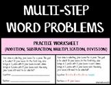 Multi-step Story Problems Worksheet