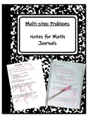 TEKS 4.4H Multi-step Word Problem Notes