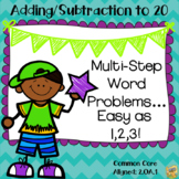 Multi-step Word Problems - Adding and Subtracting to 20 - Common Core 2.OA.1