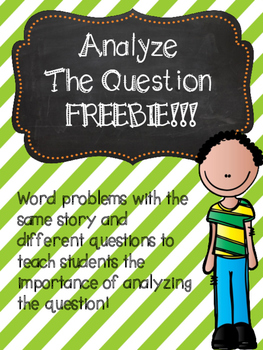 Multi-step Word Problems Freebie