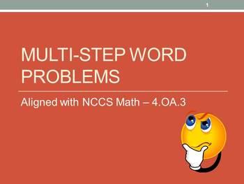 Multi-step Word Problems Full Lesson Bundle  - 4.OA.3