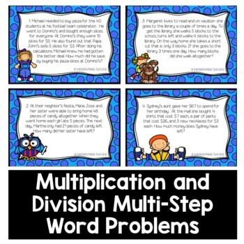 Multi-step Word Problems: Mixed Operations