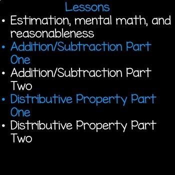 Multi-Step Word Problems Math Unit 4th Grade Common Core
