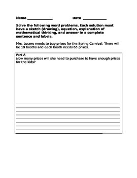 Multi-step word problem (multiplication and division)