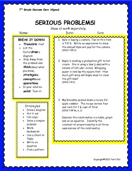 Multi step word problems common core alligned