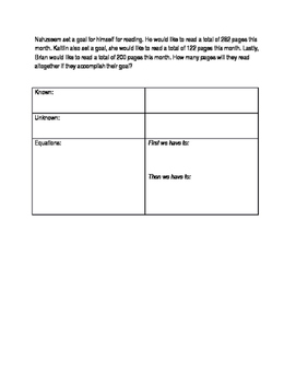 Multi step word problems differentiated Grade 3 and 4