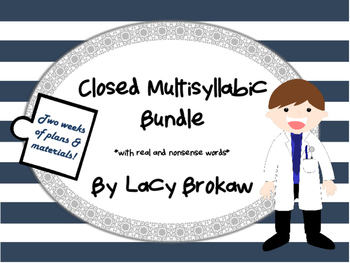 Multi-syllabic Closed Syllable Phonics Bundle