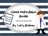 Multi-syllabic Closed Syllable Phonics Bundle