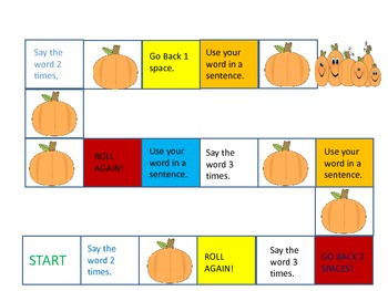 Multi-syllabic Word Cards and Games for Fall