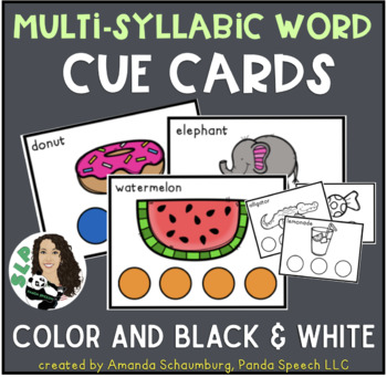 Multi-syllabic Words Cue Cards for Speech Therapy