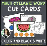 Multisyllabic Words Cue Cards for Speech Therapy