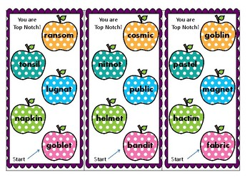 Multi-syllabic word cards open and closed, great for Kagan Structure
