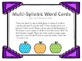 Multi-syllabic word cards open and closed, great for Kagan