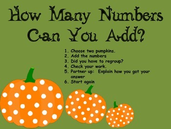 Multi-use Math Pumpkins