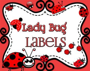 Ladybugs - Six Subject Labels