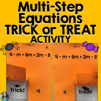 MultiStep Equations with Variables on Both Sides Halloween Activity