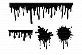 Paint Stains svg, Dripping Paint svg, Splatter svg, Drippi