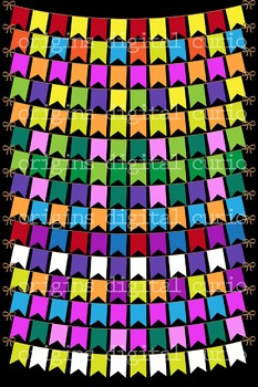56 Multicolor Bunting Banners Clipart