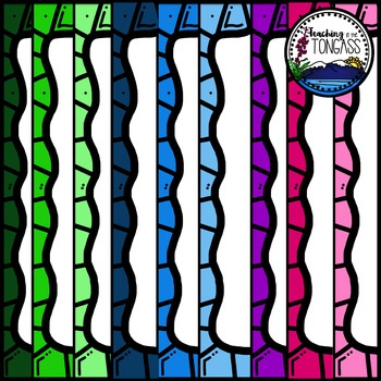 Multicolor Rainbow Frames Clipart
