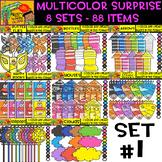 Multicolor Surprise Bundle - 8 sets - 88 Items - #Set 1