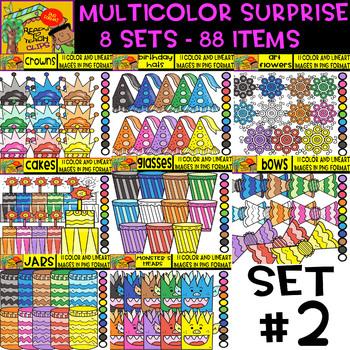 Multicolor Surprise Bundle - 8 sets - 88 Items - #Set 2 (Daily Deal)
