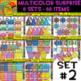 Multicolor Surprise Bundle - 8 sets - 88 Items - #Set 2 (D