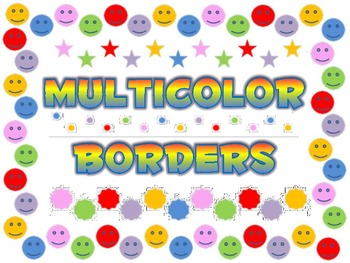 Multicolor borders backgrounds frames