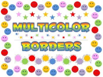 Multicolor borders backgrounds frames