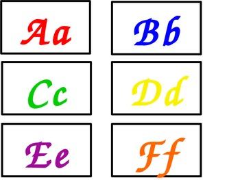 Multicolored Alphabet Labels