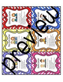 Center Signs - Multicolored Chevron