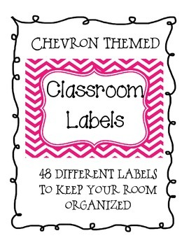 Multicolored Chevron Classroom Supply Labels