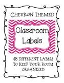 Multicolored Chevron Classroom Supply Labels
