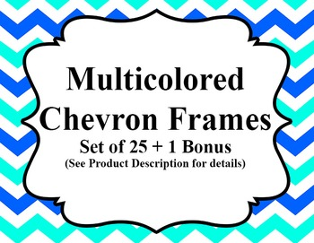 Multicolored Chevron Frames