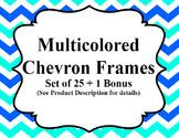 Multicolored Chevron Frames