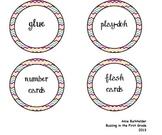 Multicolored Chevron Labels- Organization
