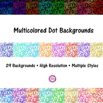 Multicolored Dots Background Pack