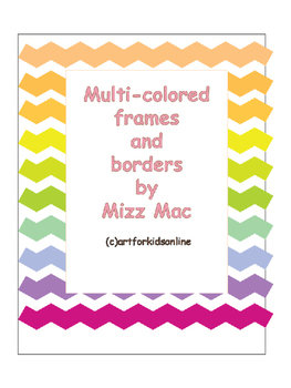 Many colors of frames and borders