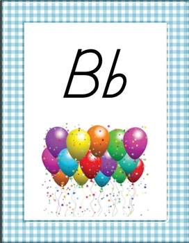Multicolored Gingham Alphabet and Number Posters