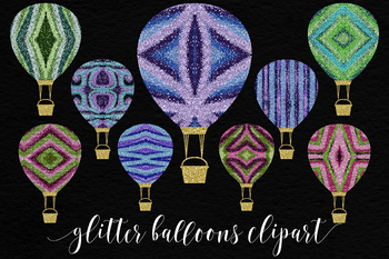 Multicolored Glitter Balloons
