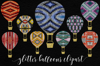 Multicolored Glitter Balloons Vol.2