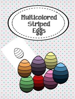 Multicolored Striped Eggs