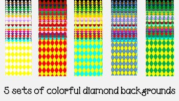 Multicolored diamond backgrounds MEGA pack