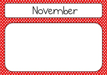 Multicolour (Multicolor) Birthday Chart / Calendar