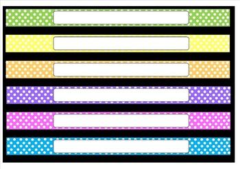 Multicolour (Multicolor) Labels