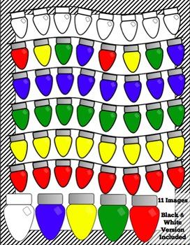 Multicoloured Christmas Lights Clip Art
