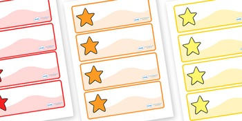 Multicoloured Star Labels