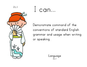 Multicultural 2nd grade English Common core standards posters