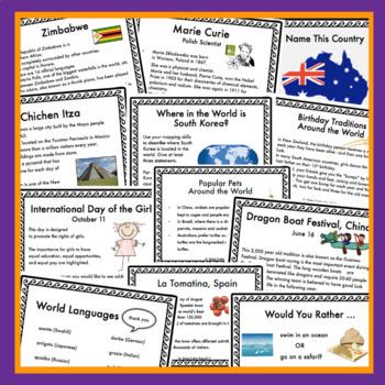Multicultural Calendar Cards