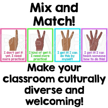 Multicultural Check for Understanding Posters - Neon Brights