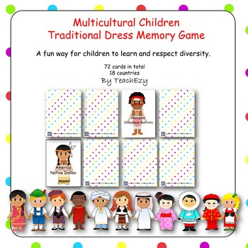 Multicultural Children in Traditional Dress Memory Game